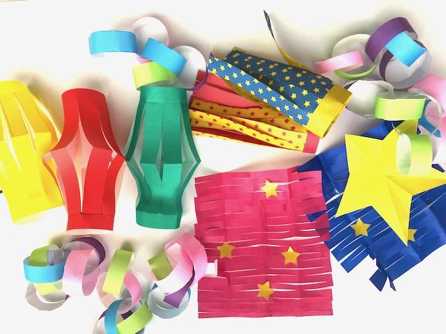 簡単七夕飾り!3歳、4歳児でも作れる折り紙飾りを七夕直前に作りました!