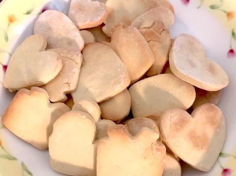 5歳児と不器用母で作るバレンタイン!簡単手作りクッキーでパパ大喜び)^o^(