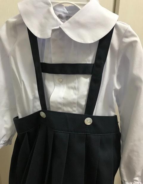 【幼稚園の制服直し】吊りスカートの丈直しは肩紐のここでするのが簡単で正解!